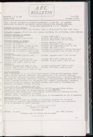 Bulletins (vnl. opstellingen) 1968-01-10