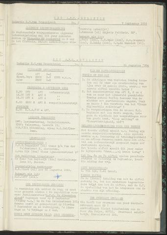 Bulletins (vnl. opstellingen) 1954-08-31