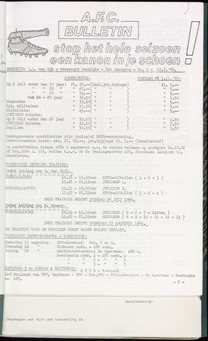 Bulletins (vnl. opstellingen) 1966-07-21
