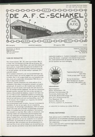Schakels (clubbladen) 1980-08-20