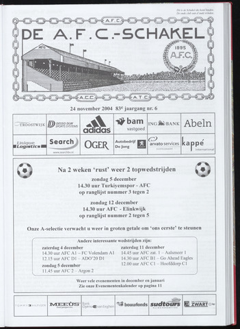 Schakels (clubbladen) 2004-11-24
