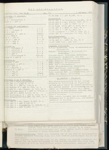 Bulletins (vnl. opstellingen) 1963-09-25