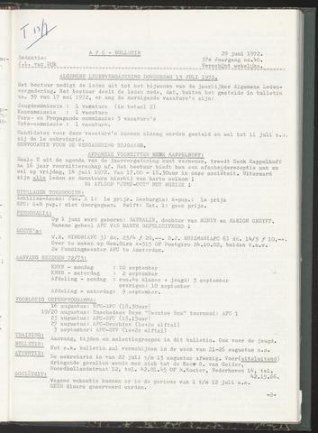 Bulletins (vnl. opstellingen) 1972-06-29