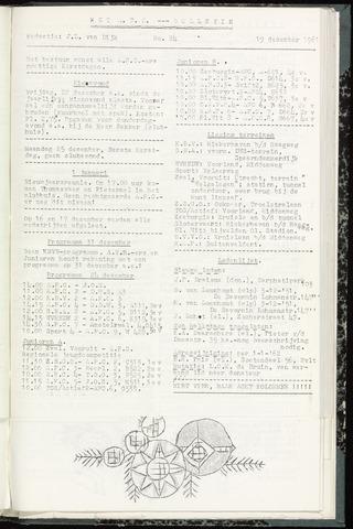 Bulletins (vnl. opstellingen) 1961-12-19