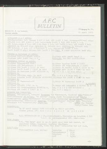 Bulletins (vnl. opstellingen) 1973-04-11