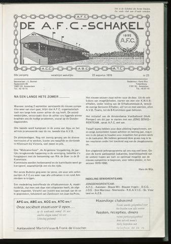 Schakels (clubbladen) 1979-08-22