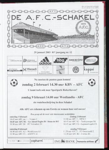 Schakels (clubbladen) 2003-01-29