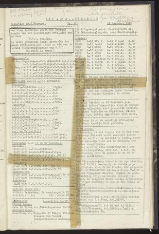 Bulletins (vnl. opstellingen) 1949-11-16