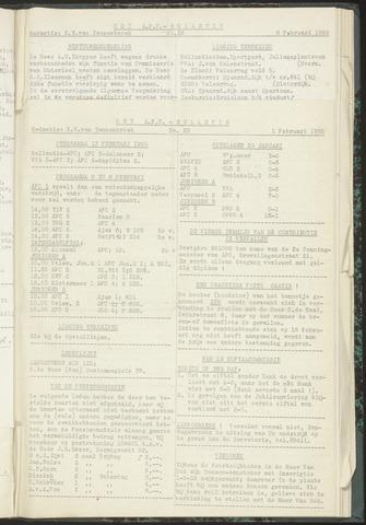 Bulletins (vnl. opstellingen) 1955-02-01