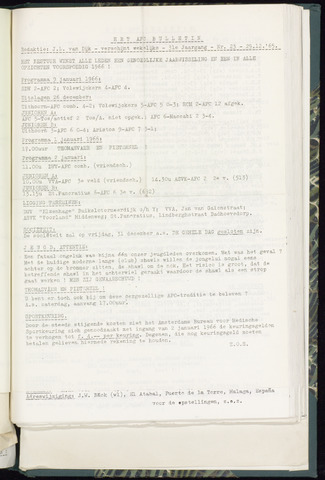 Bulletins (vnl. opstellingen) 1965-12-29