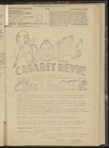 Bulletins (vnl. opstellingen) 1947-09-03
