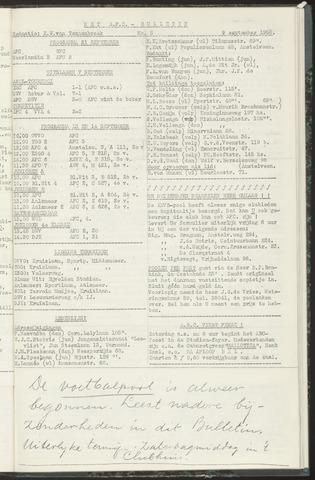Bulletins (vnl. opstellingen) 1958-09-09