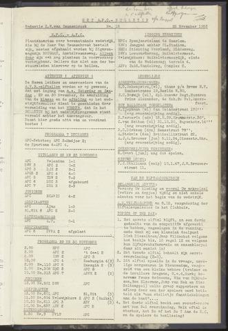 Bulletins (vnl. opstellingen) 1952-11-25