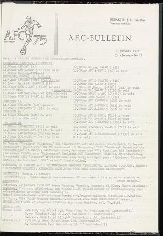 Bulletins (vnl. opstellingen) 1970