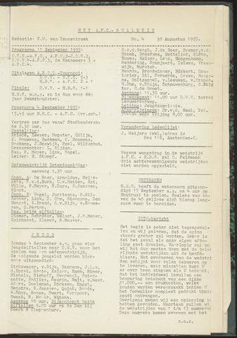 Bulletins (vnl. opstellingen) 1955-08-30