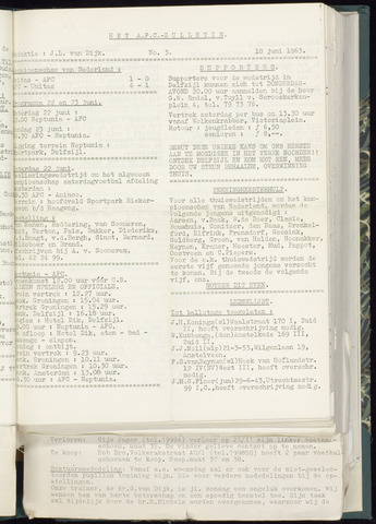 Bulletins (vnl. opstellingen) 1963-06-12