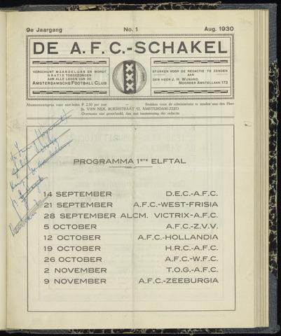 Schakels (clubbladen) 1930-08-01