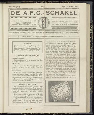 Schakels (clubbladen) 1926-02-25