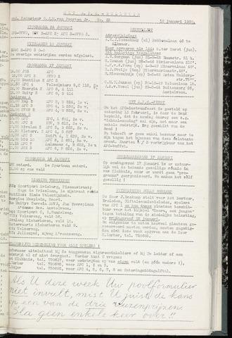 Bulletins (vnl. opstellingen) 1960-01-12