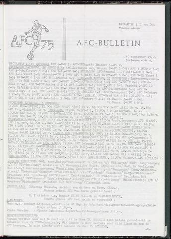 Bulletins (vnl. opstellingen) 1970-09-30