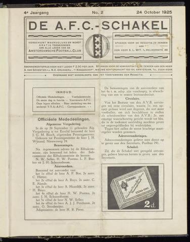Schakels (clubbladen) 1925-10-24