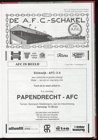 Schakels (clubbladen) 1991-04-17