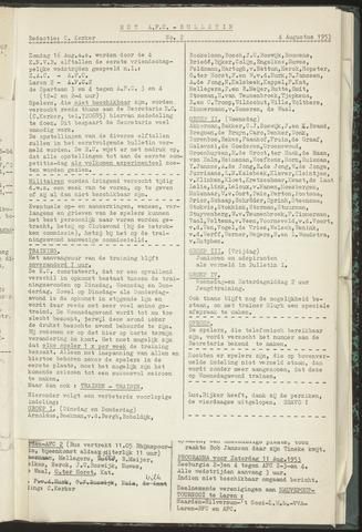 Bulletins (vnl. opstellingen) 1953-08-04