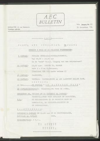Bulletins (vnl. opstellingen) 1974-12-31
