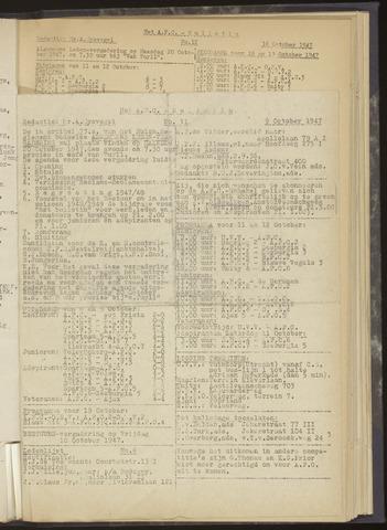 Bulletins (vnl. opstellingen) 1947-10-09