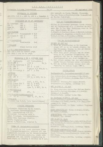 Bulletins (vnl. opstellingen) 1953-09-29