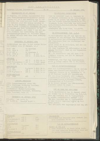Bulletins (vnl. opstellingen) 1954-01-12