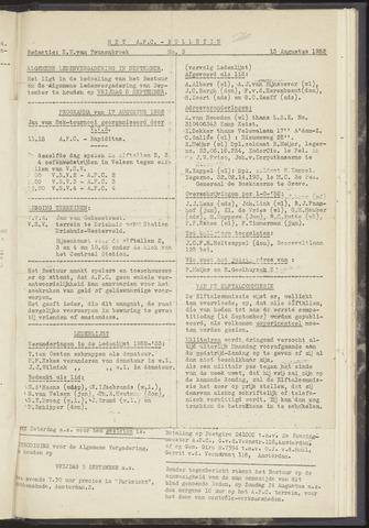 Bulletins (vnl. opstellingen) 1952-08-13