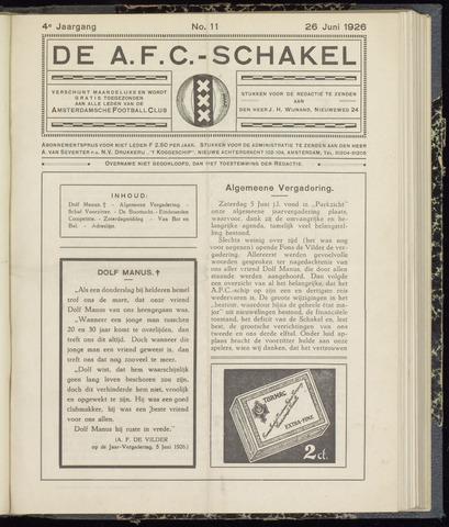 Schakels (clubbladen) 1926-06-26