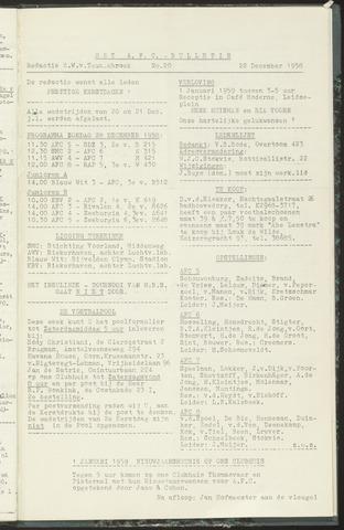 Bulletins (vnl. opstellingen) 1958-12-22