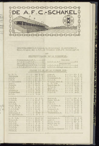 Schakels (clubbladen) 1939-11-16
