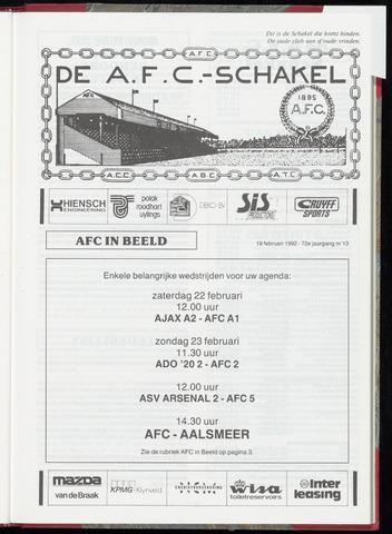 Schakels (clubbladen) 1992-02-19