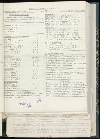 Bulletins (vnl. opstellingen) 1963-10-09