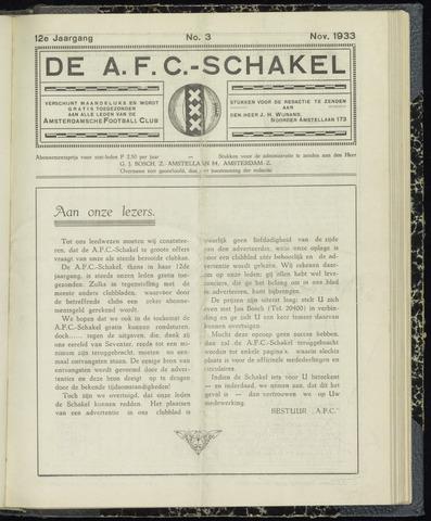 Schakels (clubbladen) 1933-11-01