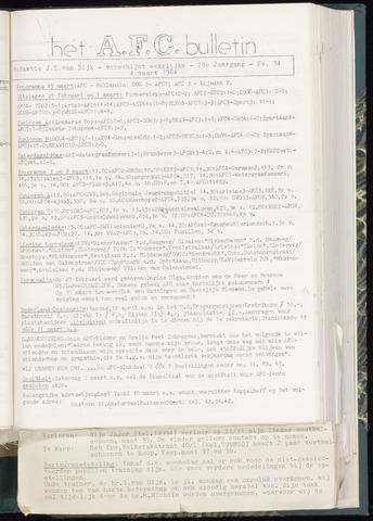 Bulletins (vnl. opstellingen) 1964-03-04