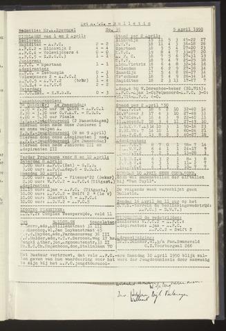 Bulletins (vnl. opstellingen) 1950-04-05