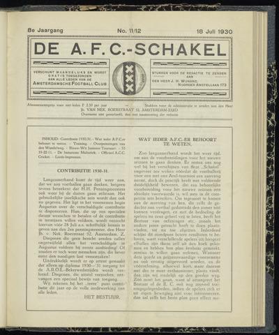 Schakels (clubbladen) 1930-07-18