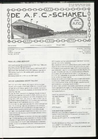 Schakels (clubbladen) 1985-04-10