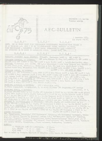Bulletins (vnl. opstellingen) 1971-12-01