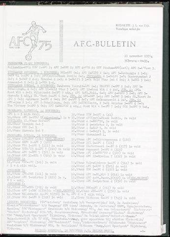 Bulletins (vnl. opstellingen) 1970-11-11