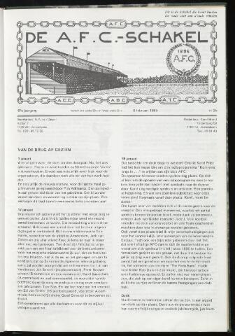 Schakels (clubbladen) 1985-02-06