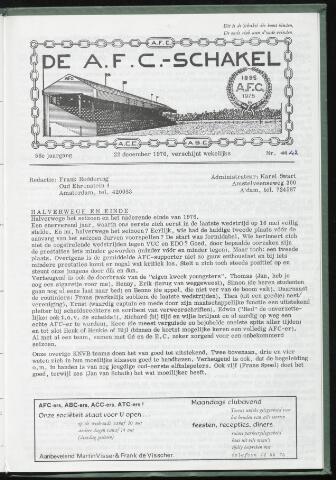 Schakels (clubbladen) 1976-12-22