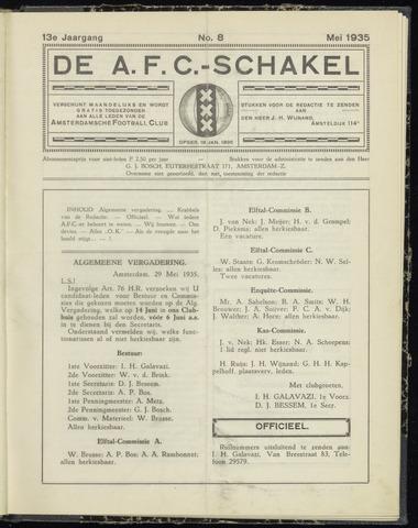 Schakels (clubbladen) 1935-05-01