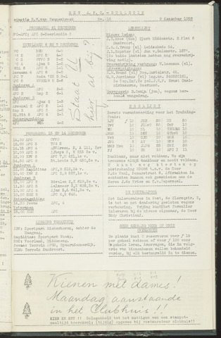 Bulletins (vnl. opstellingen) 1958-12-09