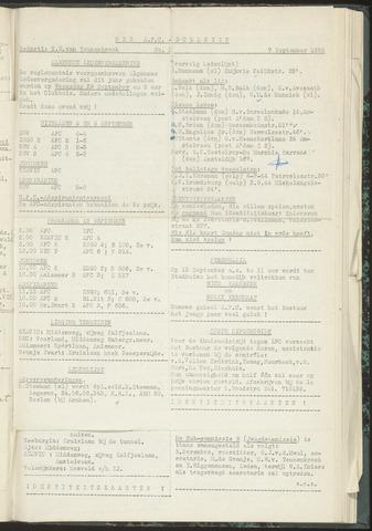 Bulletins (vnl. opstellingen) 1954-09-02