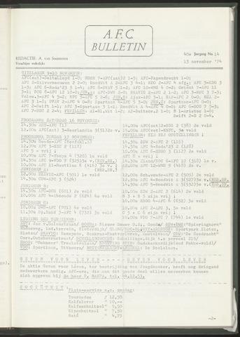 Bulletins (vnl. opstellingen) 1974-11-13